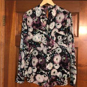 BCBG floral blouse